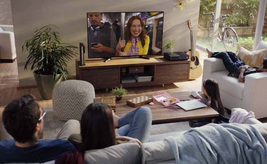 Netflix in woonkamer